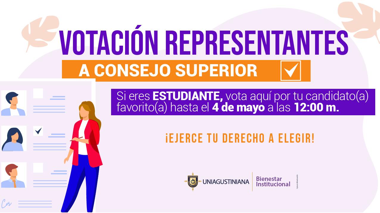 Votación para estudiante