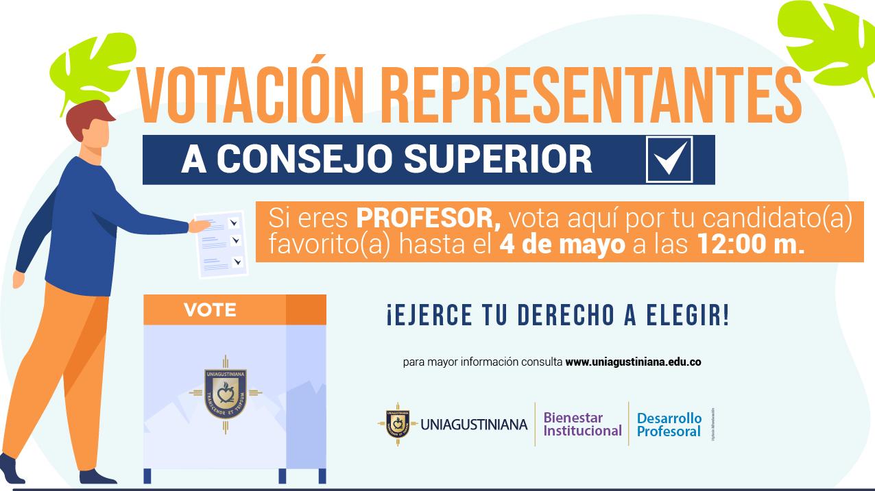 Votación para profesores