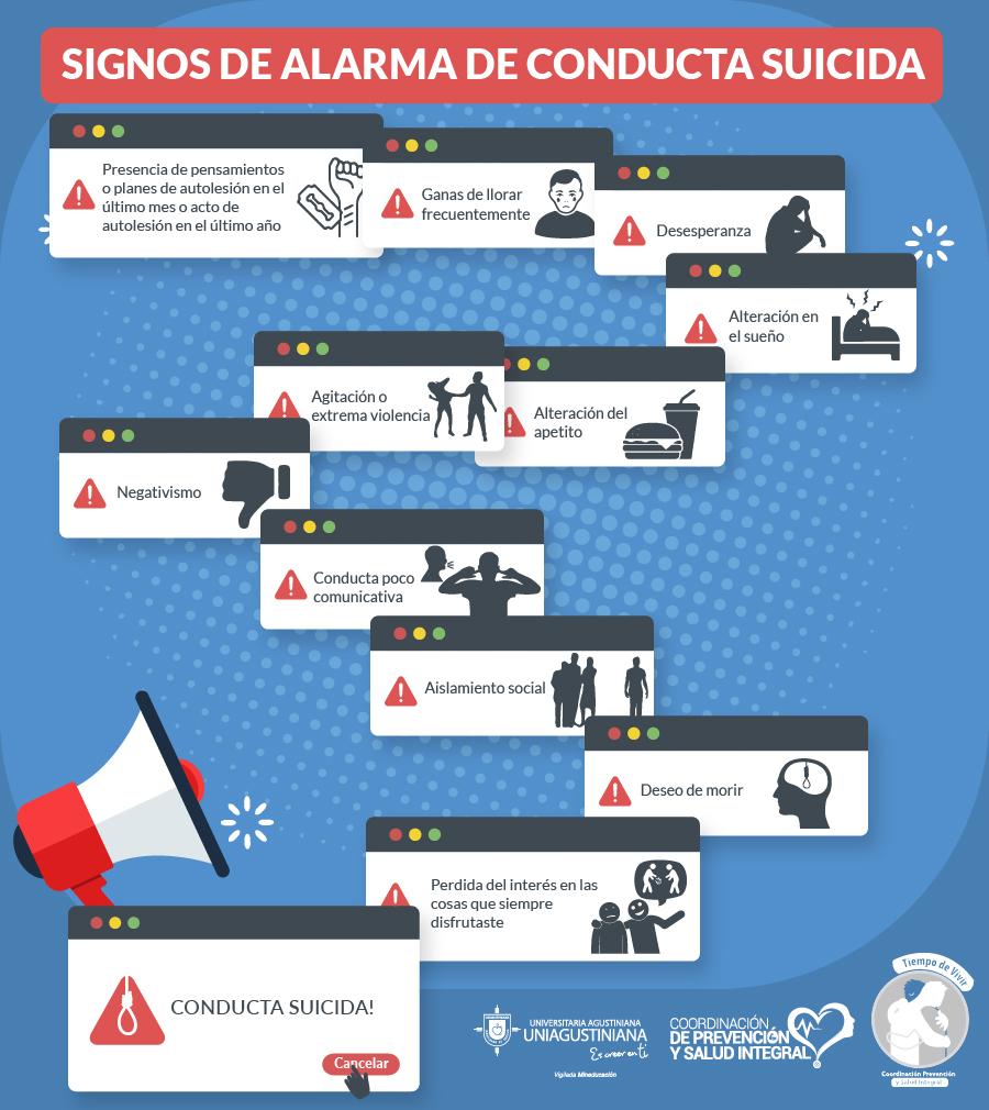 Conducta suicida infografía