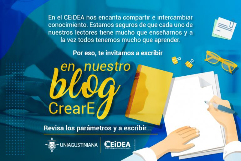 Convocatoria Blog CrearE