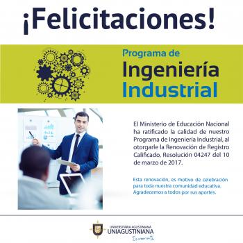 Renovación de Registro Calificado: Ingeniería Industrial