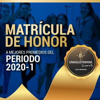 Matrícula de Honor 2020-1