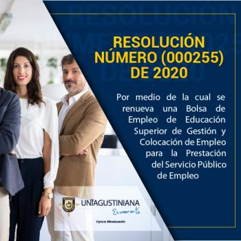 Resolución 000255 de 2020
