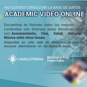 ¡Consulta nuestra base de datos: Academic Video Online!